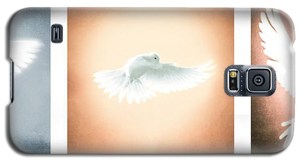 Dove In Flight Triptych Galaxy S5 Case by YoPedro