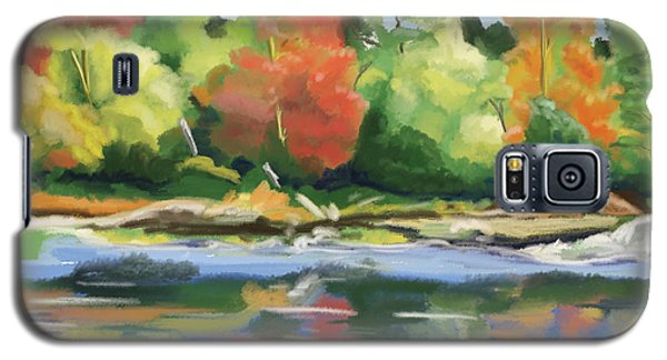 Galaxy S5 Case featuring the painting Down By The River by Tim Gilliland