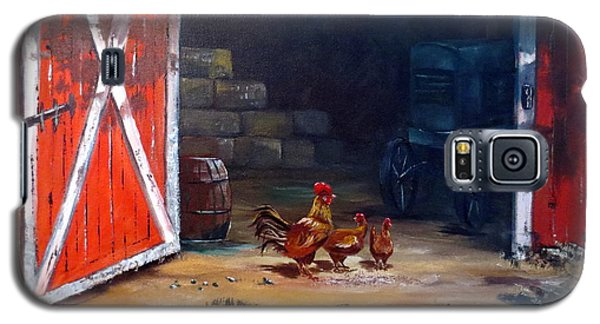 Galaxy S5 Case featuring the painting Down On The Farm by Lee Piper
