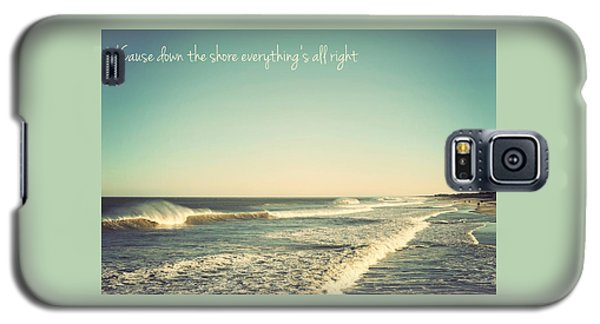 Down The Shore Seaside Heights Vintage Quote Galaxy S5 Case