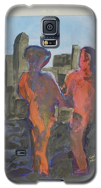 Galaxy S5 Case featuring the painting Down Town Date Night by Keith Thue
