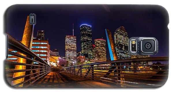 Down Town Houston From The Buffalo Bayou Bridge Galaxy S5 Case by Micah Goff