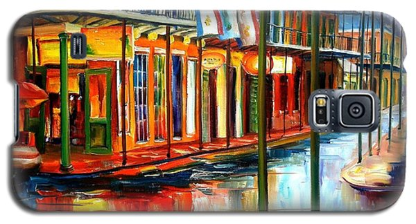 City Scenes Galaxy S5 Case - Downpour On Bourbon Street by Diane Millsap