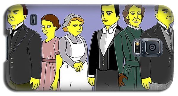 Galaxy S5 Case featuring the digital art Downton Abbey - Downstairs 6 by Donna Huntriss