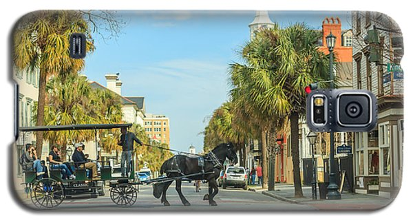 Galaxy S5 Case featuring the photograph Downtown Charleston Stroll by Patricia Schaefer