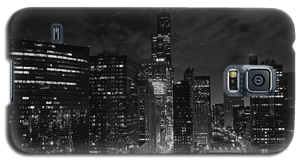 Downtown Chicago At Night Galaxy S5 Case