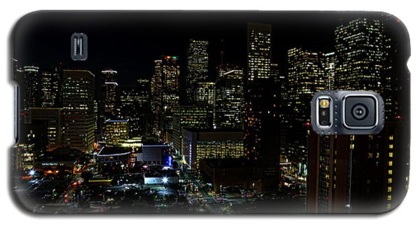 Downtown Houston At Night Galaxy S5 Case