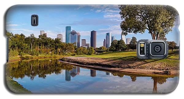 Downtown Houston Panorama From Buffalo Bayou Park Galaxy S5 Case