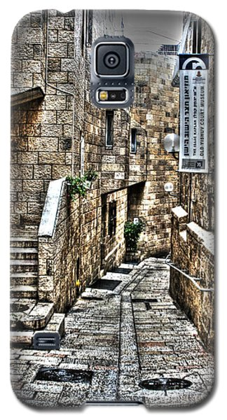 Galaxy S5 Case featuring the photograph Downtown In Jerusalems Old City by Doc Braham