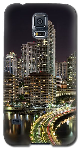 Downtown Miami From Brickell Key Galaxy S5 Case by Andres Leon