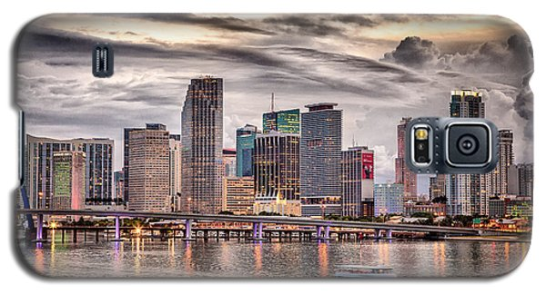 Downtown Miami Skyline In Hdr Galaxy S5 Case
