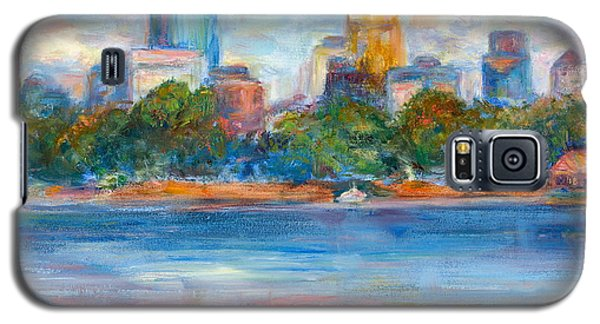 Downtown Minneapolis Skyline From Lake Calhoun II - Or Commission Your City Painting Galaxy S5 Case
