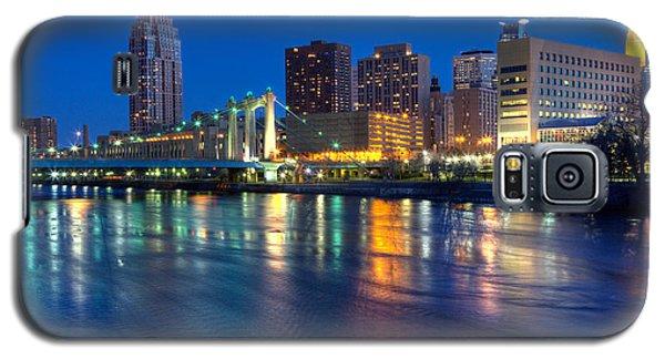 Downtown Minneapolis Skyline Hennepin Avenue Bridge Galaxy S5 Case