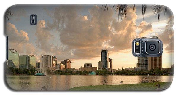 Downtown Orlando Skyline Lake Eola Sunset Galaxy S5 Case