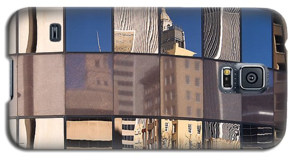 Galaxy S5 Case featuring the photograph Downtown Reflections by Lawrence Burry