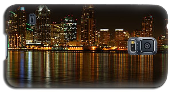 Downtown San Diego At Night From Harbor Drive Galaxy S5 Case by Nathan Rupert