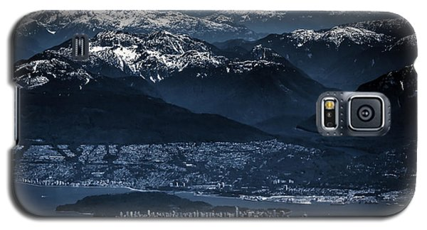 Downtown Vancouver And The Mountains Aerial View Low Key Galaxy S5 Case by Eti Reid