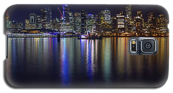 Downtown Vancouver Skyline By Night Galaxy S5 Case