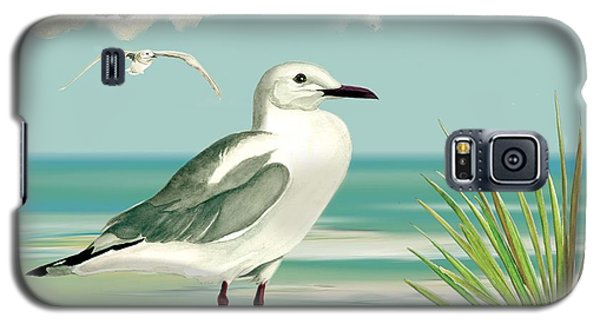 Galaxy S5 Case featuring the painting Downwind by Anne Beverley-Stamps