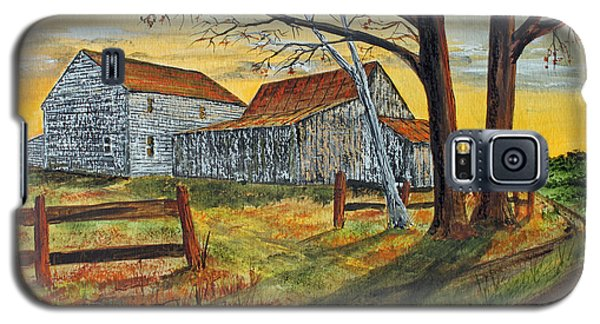 Galaxy S5 Case featuring the painting Drafty Old House by Jack G  Brauer