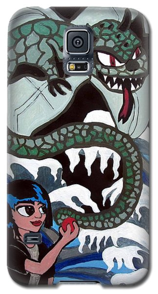 Galaxy S5 Case featuring the painting Dragon Fruit by Artists With Autism Inc