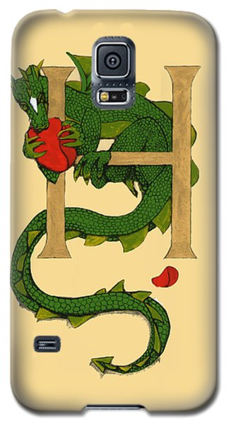 Dragon Letter H Galaxy S5 Case by Donna Huntriss