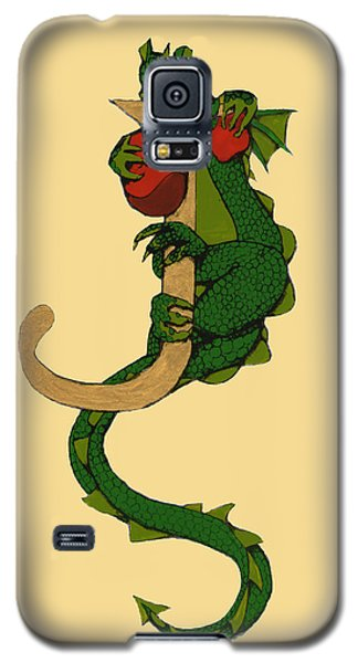 Dragon Letter J Galaxy S5 Case by Donna Huntriss