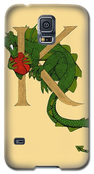 Dragon Letter K Galaxy S5 Case by Donna Huntriss