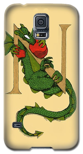 Dragon Letter N Galaxy S5 Case by Donna Huntriss