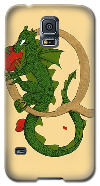 Dragon Letter Q Galaxy S5 Case by Donna Huntriss