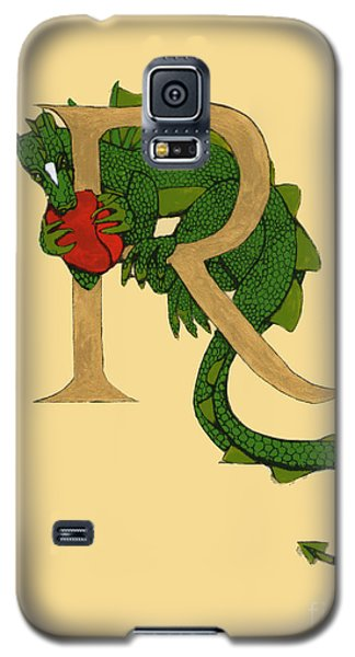 Dragon Letter R Galaxy S5 Case by Donna Huntriss