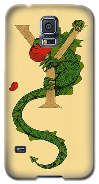 Dragon Letter Y Galaxy S5 Case by Donna Huntriss