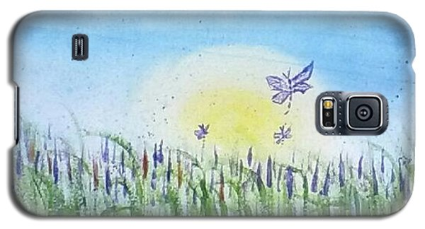 Galaxy S5 Case featuring the painting Dragonflies In The Tullies by Carol Duarte