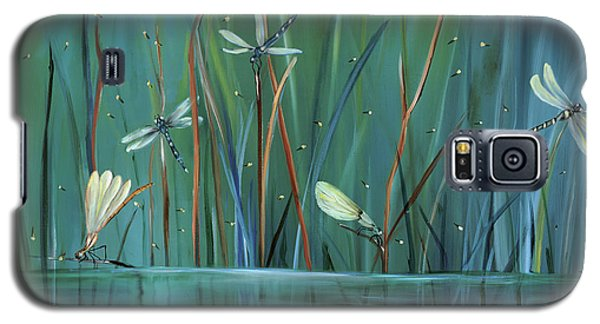 Galaxy S5 Case featuring the painting Dragonfly Diner by Carol Sweetwood