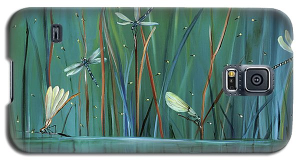 Impressionism Galaxy S5 Case - Dragonfly Diner by Carol Sweetwood