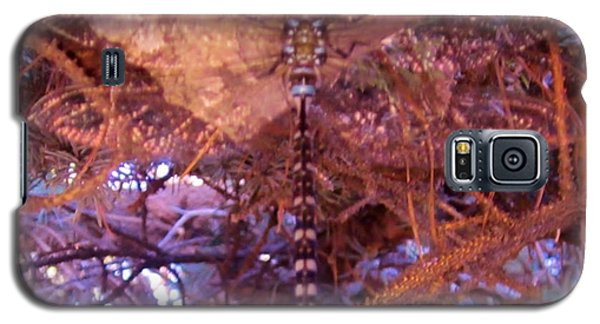 Dragonfly In Spruce Galaxy S5 Case by Cathy Long