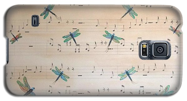 Galaxy S5 Case featuring the painting Dragonfly Symphony by Cindy Micklos