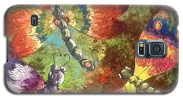 Galaxy S5 Case featuring the painting Dragons 2 by Megan Walsh