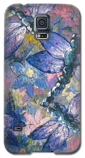 Galaxy S5 Case featuring the painting Dragons  by Megan Walsh