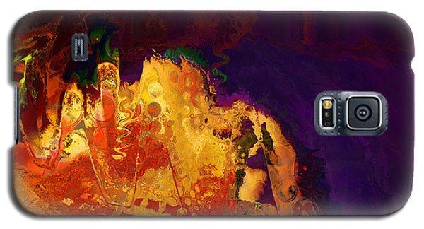 Galaxy S5 Case featuring the digital art Dragon's Teeth Cave by Constance Krejci