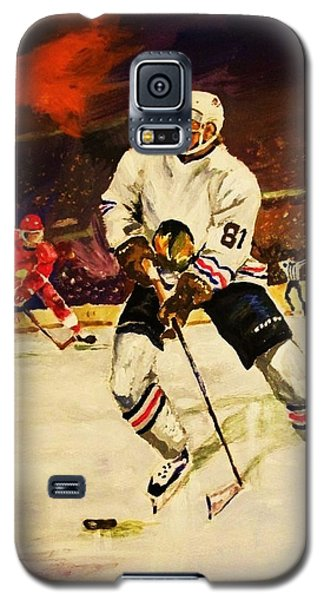 Galaxy S5 Case featuring the painting Drama On Ice by Al Brown