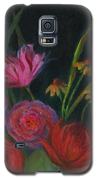 Dramatic Floral Still Life Painting Galaxy S5 Case by Mary Wolf