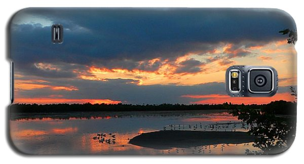 Galaxy S5 Case featuring the photograph Dramatic Sunset by Rosalie Scanlon
