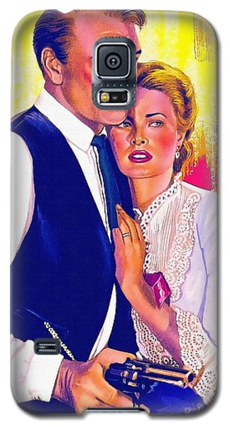 Drawing Of High Noon Galaxy S5 Case by Art Cinema Gallery