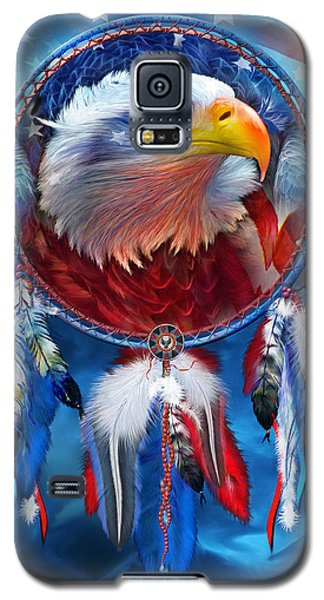 Dream Catcher - Eagle Red White Blue Galaxy S5 Case