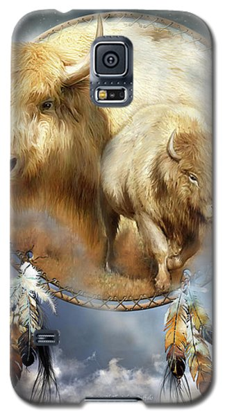 Dream Catcher - Spirit Of The White Buffalo Galaxy S5 Case by Carol Cavalaris