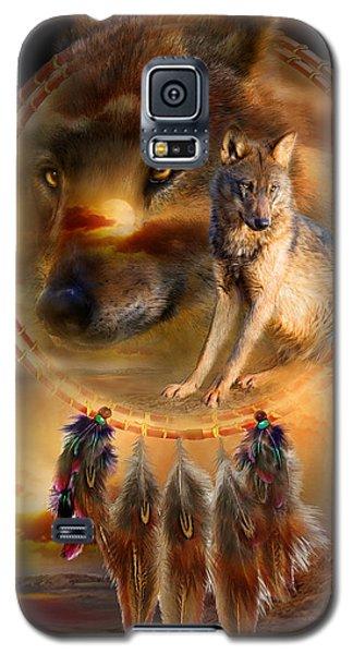 Dream Catcher - Wolfland Galaxy S5 Case by Carol Cavalaris