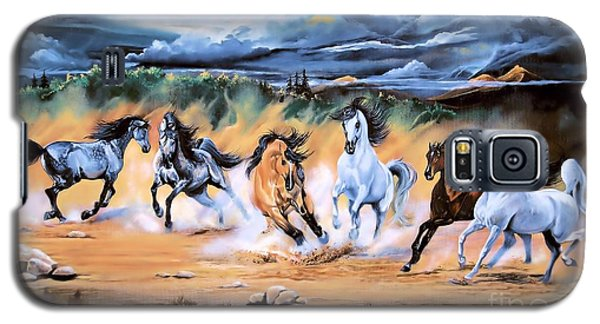 Dream Horse Series 125 - Flat Bottom River Wild Horse Herd Galaxy S5 Case