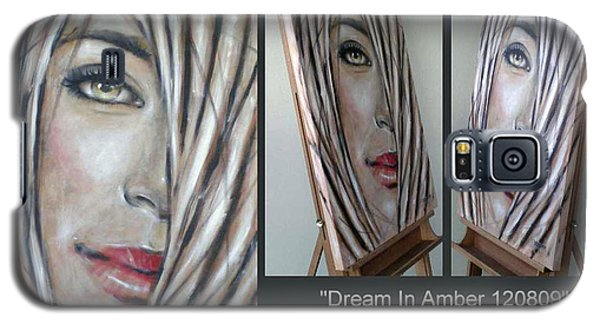 Galaxy S5 Case featuring the painting Dream In Amber 120809 Comp by Selena Boron