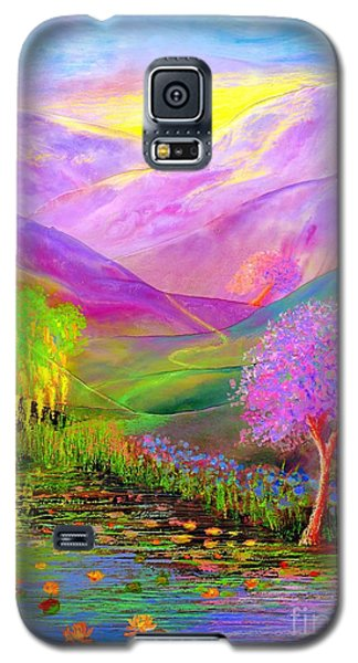 Galaxy S5 Case featuring the painting Dream Lake by Jane Small